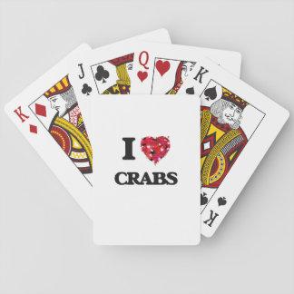 I love Crabs Poker Deck