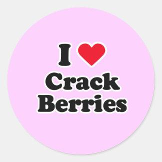 I love crack berries round sticker