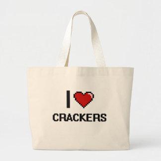 I Love Crackers Jumbo Tote Bag