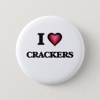 I Love Crackers Pinback Button
