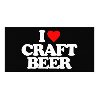 I LOVE CRAFT BEER PHOTO CARD