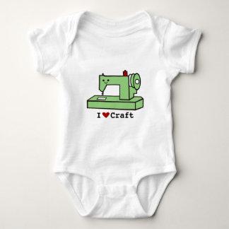 I Love Craft- Kawaii Sewing Machine Baby Bodysuit