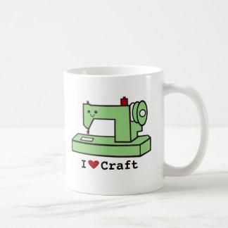 I Love Craft- Kawaii Sewing Machine Coffee Mug