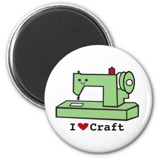 I Love Craft- Kawaii Sewing Machine Refrigerator Magnets