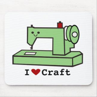 I Love Craft- Kawaii Sewing Machine Mouse Pad