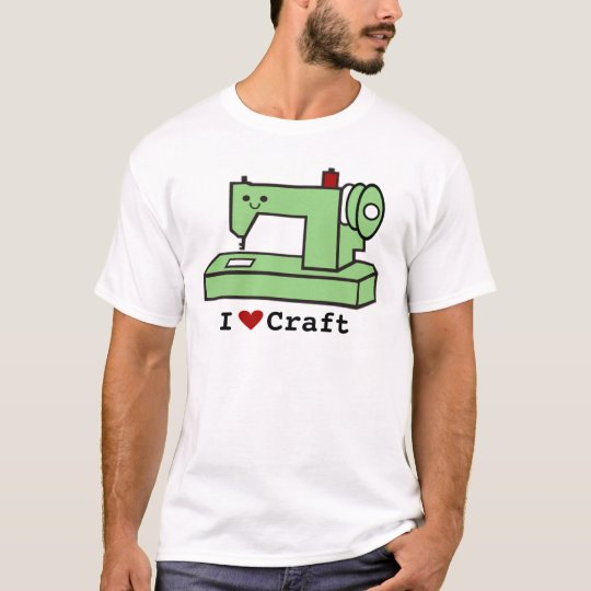 I Love Craft- Kawaii Sewing Machine T-Shirt