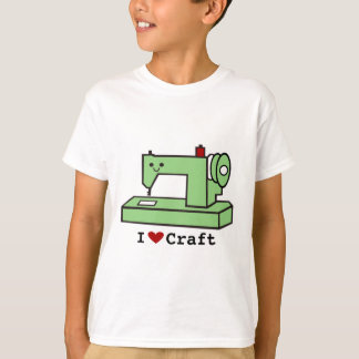 I Love Craft- Kawaii Sewing Machine T-Shirt