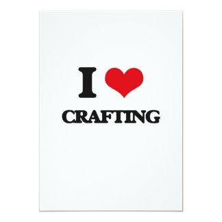 I love Crafting 5x7 Paper Invitation Card