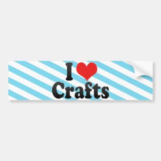 I Love Crafts Car Bumper Sticker