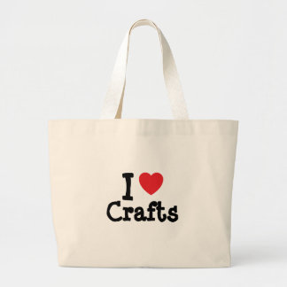 I love Crafts heart custom personalized Tote Bags