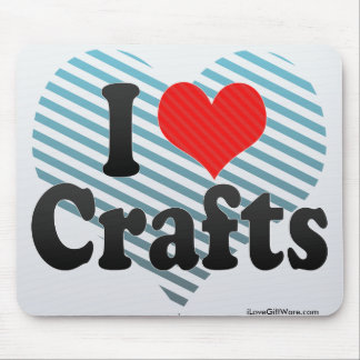 I Love Crafts Mouse Pad