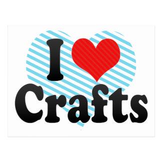 I Love Crafts Postcard