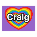 I love Craig. I love you Craig. Heart Postcards