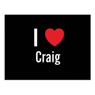 I love Craig Postcard