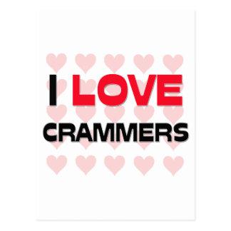 I LOVE CRAMMERS POSTCARD