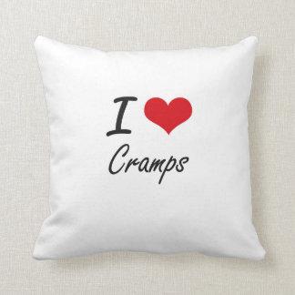 I love Cramps Throw Pillow