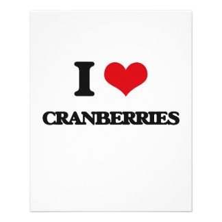 "I love Cranberries 4.5"" X 5.6"" Flyer"