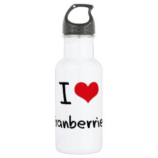 I love Cranberries 18oz Water Bottle