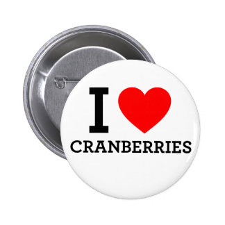 I Love Cranberries Pinback Button