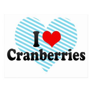 I Love Cranberries Postcard
