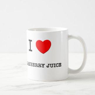 I Love CRANBERRY JUICE ( food ) Coffee Mug