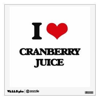 I Love Cranberry Juice Room Stickers