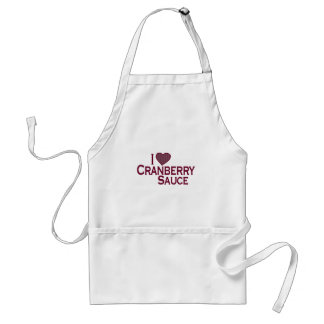 I Love Cranberry Sauce Adult Apron