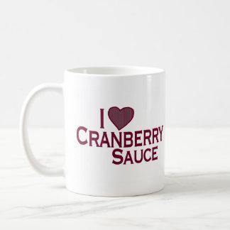I Love Cranberry Sauce Coffee Mug