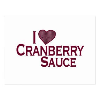 I Love Cranberry Sauce Postcard