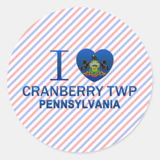 I Love Cranberry Twp, PA Classic Round Sticker
