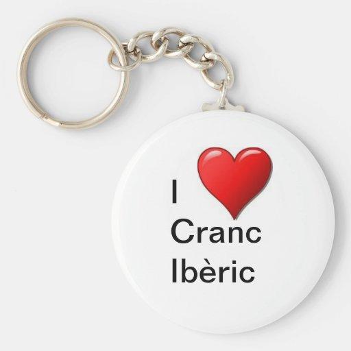 I love Cranc Ibèric Llavero