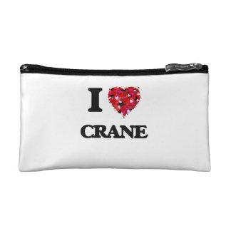 I Love Crane Makeup Bags