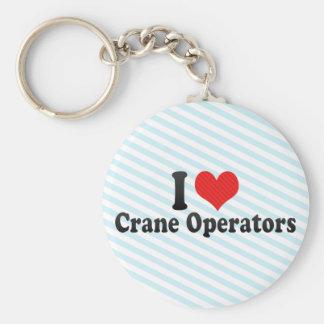 I Love Crane Operators Basic Round Button Keychain