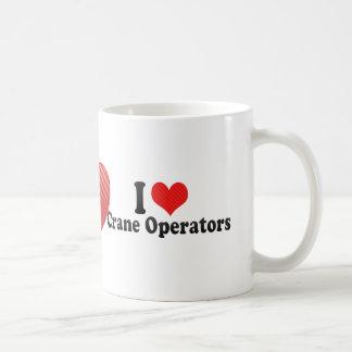 I Love Crane Operators Classic White Coffee Mug