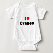 i love Cranes Baby Bodysuit