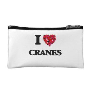 I love Cranes Cosmetic Bags