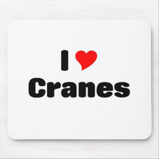 i love Cranes Mousepads