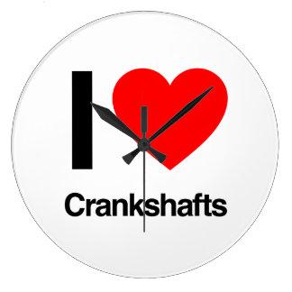 i love crankshafts wall clocks