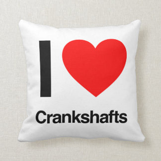 i love crankshafts throw pillow