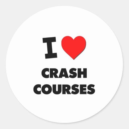 I love Crash Courses Round Stickers