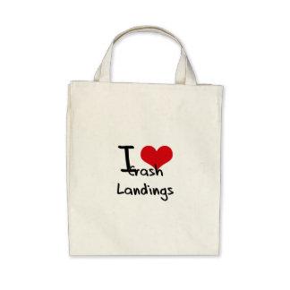 I love Crash Landings Tote Bags