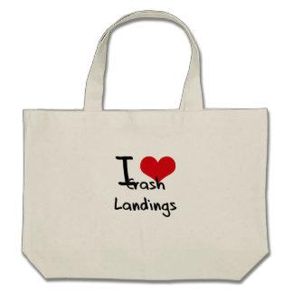 I love Crash Landings Canvas Bags