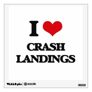 I love Crash Landings Wall Stickers