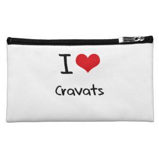 I love Cravats Cosmetics Bags