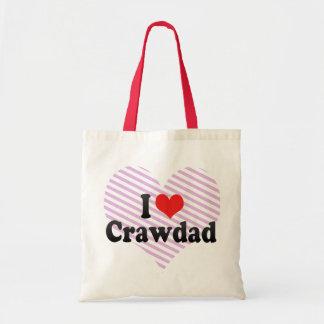 I Love Crawdad Canvas Bags