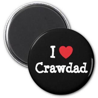 I love Crawdad heart T-Shirt 2 Inch Round Magnet