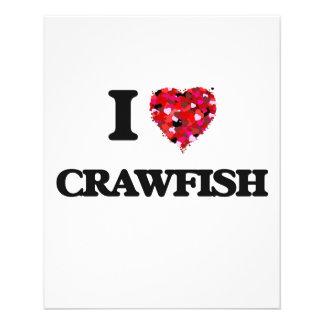 "I love Crawfish 4.5"" X 5.6"" Flyer"