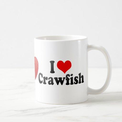 I Love Crawfish Classic White Coffee Mug
