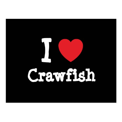 I love Crawfish heart T-Shirt Postcard