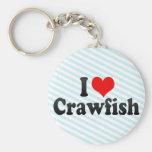 I Love Crawfish Keychains